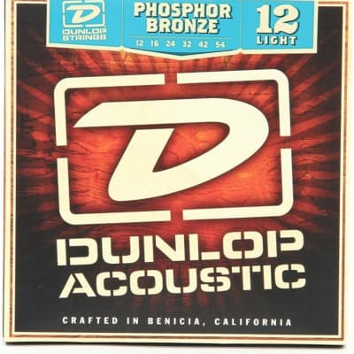 Dunlop DAP1254 Phosphor Bronze Acoustic Strings Light