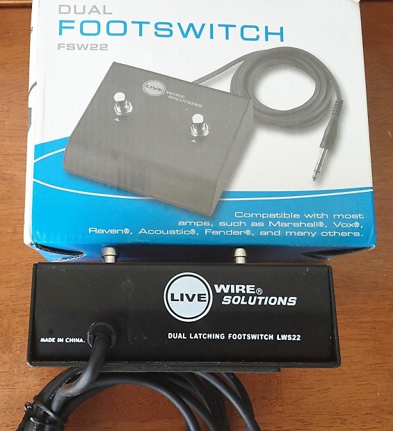 LiveWire F/LSW22 Dual Latching Footswitch | Reverb