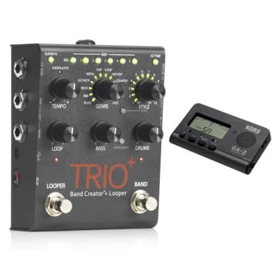 Digitech Trio+ Effect Pedal w/ Korg GA-2 Compact Guitar/Bass Tuner Bundle