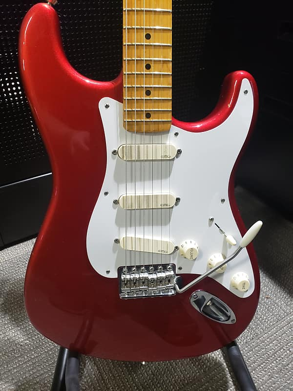 usa fender stratocaster 57vri fsr 2011 candy apple red emg reverb. Black Bedroom Furniture Sets. Home Design Ideas