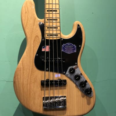 Fender  American Deluxe Jazz Bass V 2015 Natural Ash for sale