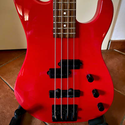 Charvel CHS4 Jackson bass '80 with USA Bartolini 1989 red