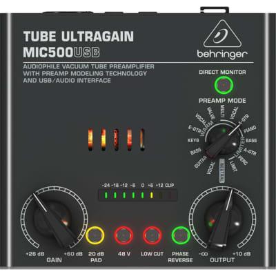 Behringer MIC500USB TUBE ULTRAGAIN Preamp