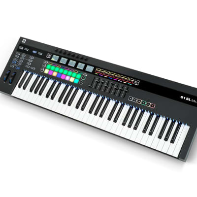 NOVATION 49SL MkIII 49-key MIDI Controller with Semi-Weighted Keys, 8-track Sequencer, and LCD Screens - Quick Shipping Available
