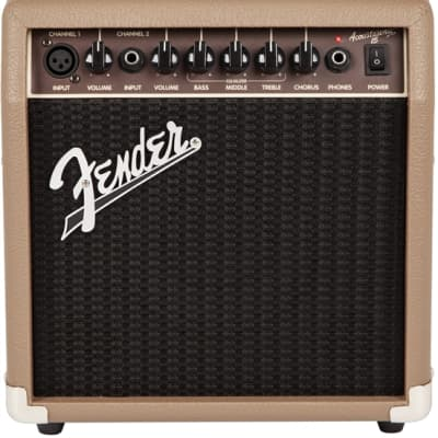 Fender Acoustasonic 15 Acoustic Guitar Amplifier - Brown and Wheat