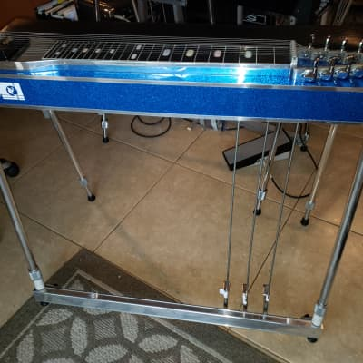 MCI SD10 Blue Sparkle 3X5 Pedal Steel Guitar w/ Hard Case! for sale