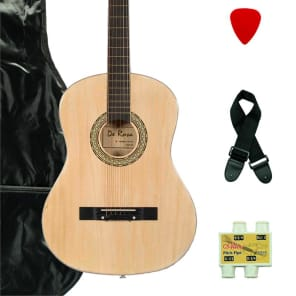 De Rosa  DK3810R-NT Kids Acoustic Guitar Outfit w/Gig Bag, Pick, Strings, Pitch Pipe & Guitar Strap for sale