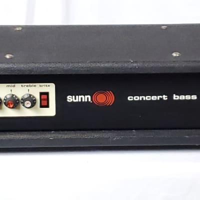 1975 Sunn Concert Bass Guitar Amp, DESIRABLE Red Knob Era! for sale