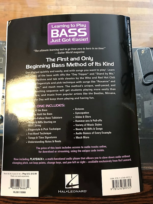 hal leonard bass tab method book one g and a music reverb. Black Bedroom Furniture Sets. Home Design Ideas