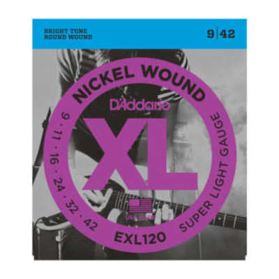 D'Addario EXL120 Super Light Electric String Set 9-42