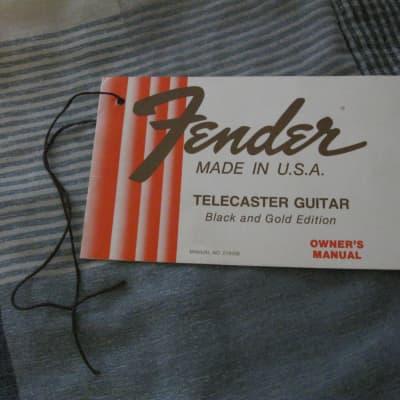 Fender black & gold  manual 1981