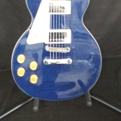 Used Davison Single Cut Electric Guitar Blue for sale