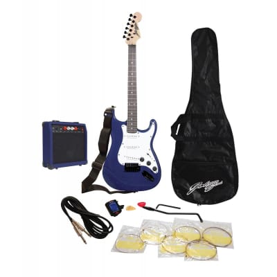Johnny Brook Guitar Kit With Amplifier (Blue) for sale