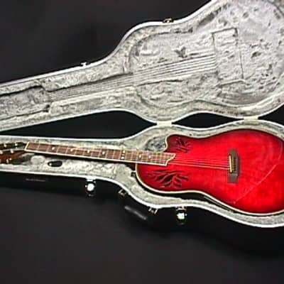 Dillion Acoustic-Electric Beautiful Red Guitar Model  J-135 CEA Ready to Play as-is  23 G for sale