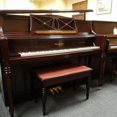 Kohler & Campbell KMV-47T Upright Piano Mfg 2005 in Korea - Bench Included - Satin Mahogany