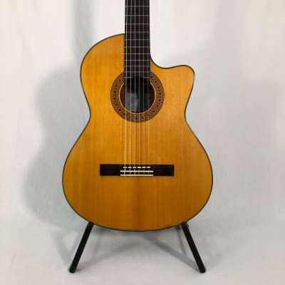 K Yairi CY127 CE (2008) 59472 Nylon string, electro with cutaway, in a Ortega softcase. Made Japan. for sale