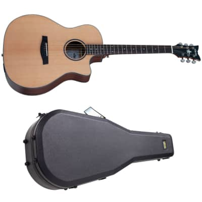 Schecter Orleans Studio Acoustic Natural Satin NS NEW Acoustic-Electric Guitar with Hardshell Case for sale