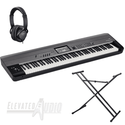 Korg Krome EX88 Workstation + Casio ARDX Double X Stand & Roland RH-5 Headphones! CA's #1 Dealer!