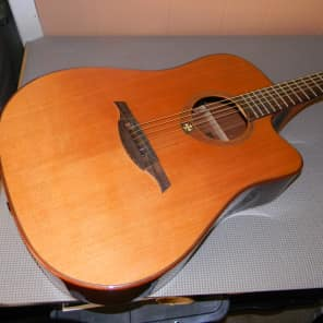 LAG T100DCE Stage Acoustic Guitar Natural for sale
