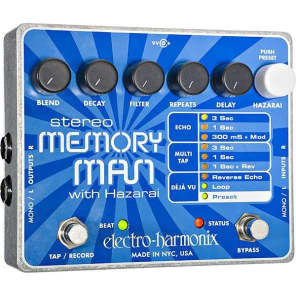 Electro Harmonix Stereo Memory Man with Hazarai XO Series for sale