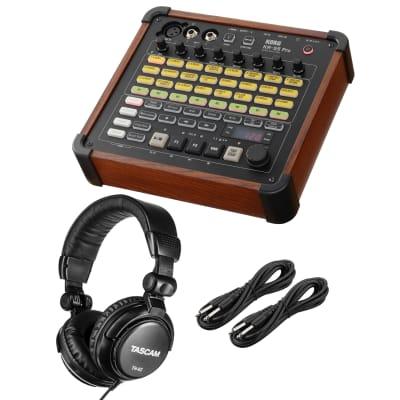 Korg KR-55 Pro Rhythm Machine, Tascam TH02, (2) 1/4 Cables Bundle