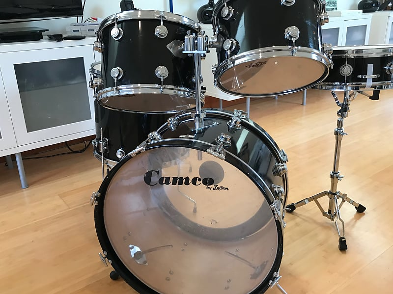 70 S Camco La 5 Piece Drum Set 22 18 13 14 14 Reverb