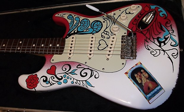 fender stratocaster jimi hendrix monterey pop tribute strat reverb. Black Bedroom Furniture Sets. Home Design Ideas