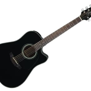 Takamine Dreadnought Acoustic Guitar - Gloss Black/Rosewood - GD30CEBLK for sale