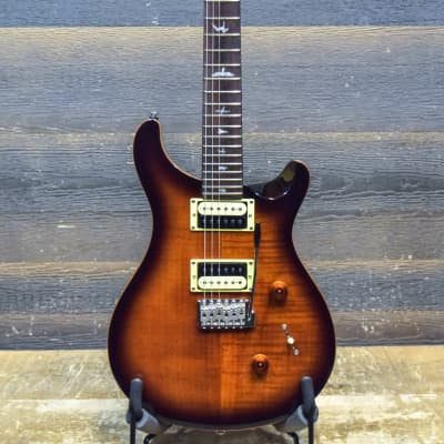 PRS SE Custom 24 Flame Maple Veneer Top Tobacco Sunburst Electric Guitar w/Bag