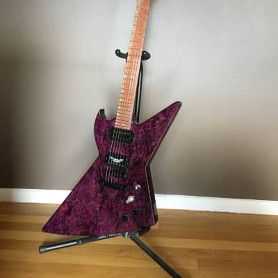 FREE Shipping Tuesday! Goliath Explorer style Custom Guitar Hand Crafted Black Diamond for sale