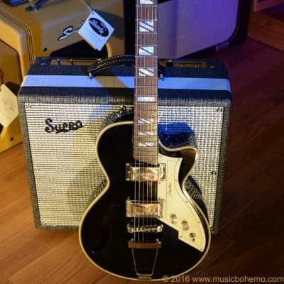Peerless Retromatic 131 Hollowbody Guitar & HSC Black for sale