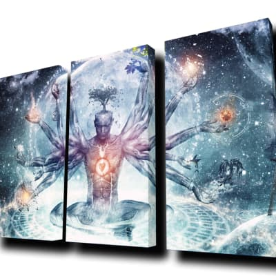 """""""The Neverending Dreamer"""" by Cameron Gray - Cascade Acoustic Panels (Wall Mounted/RGB LED Front & Backlighting)"""