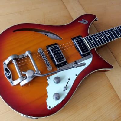 Duesenberg Double Cat Semi-Hollow Guitar 2010s Fire Burst for sale