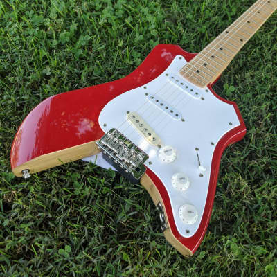 Stratocaster Style Douglas USA Electric Guitar, Fender USA Pickup, Hot Rodded, Partscaster, Red for sale