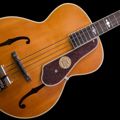 Epiphone Masterbilt Century De Luxe Classic Archtop 4 String Bass 2018 Vintage Natural no case