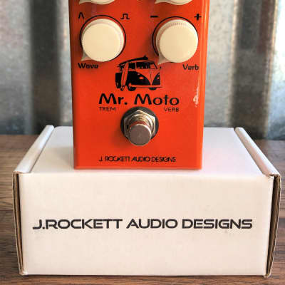 J. Rockett Audio Designs Mr Moto Tremolo Reverb Guitar Effect Pedal for sale