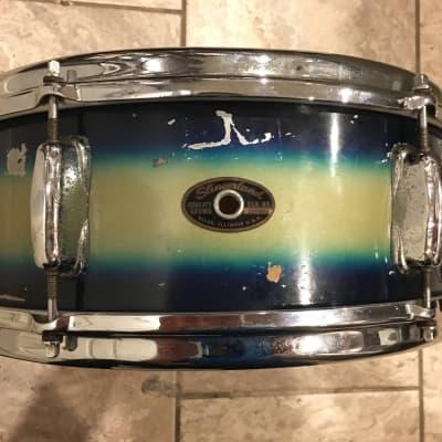 Slingerland Deluxe Student Model 6-Lug Snare Drum 1965 Blue/Gold Duco - Video Demo