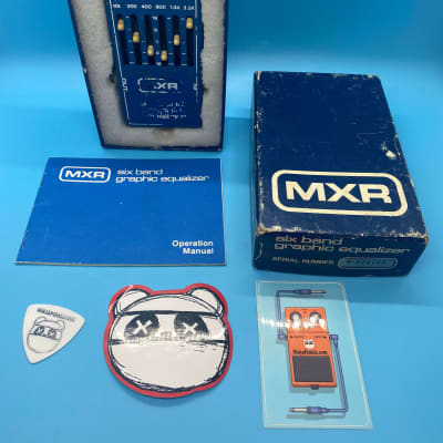 Vintage MXR M109 6 Band EQ Pedal w/Original Box | Rare 1970s Six Band Equalizer | Fast Shipping!