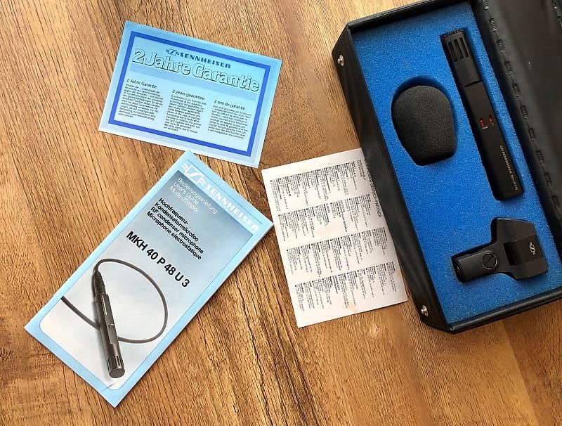 sennheiser mkh 40 p48 cardioid condenser microphone clip reverb. Black Bedroom Furniture Sets. Home Design Ideas