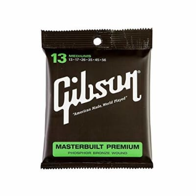 Gibson Masterbuilt Coated Phosphor Bronze Acoustic Guitar Strings - Medium for sale