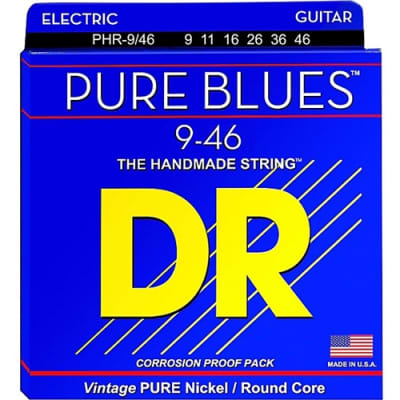 DR PHR 9/46 Pure Blues Nickel Electric Guitar Strings, .009-.046