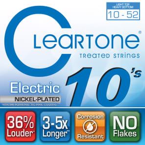 Cleartone 9420 Nickel Plated Electric Guitar Strings - Light/Heavy (10-52)
