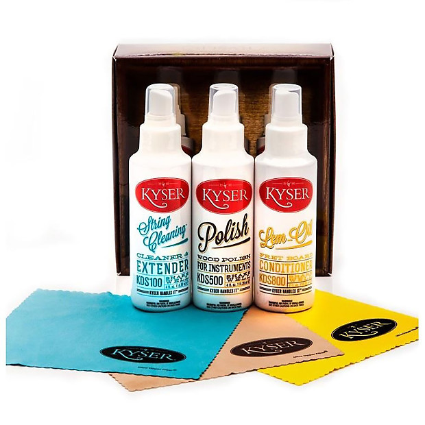 new kyser kcpk1 guitar and instrument care kit with string reverb. Black Bedroom Furniture Sets. Home Design Ideas