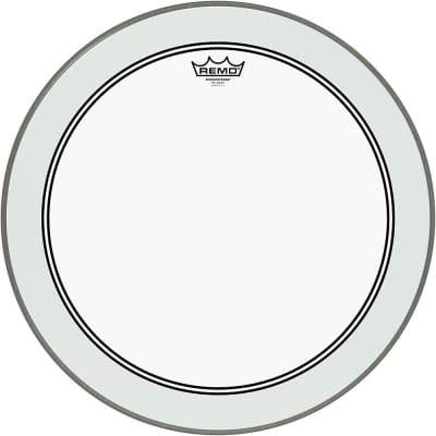 Remo Powerstroke 3 Clear Bass Drum Head with Impact Patch 24 in. P31324C2