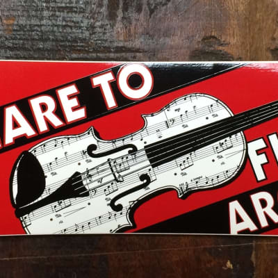 AIM Care To Fiddle Around Bumper Sticker 2012