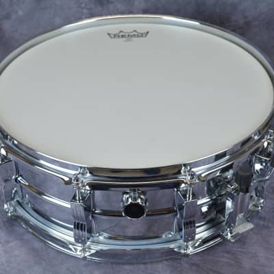 1990s LUDWIG Chrome Steel Snare Drum 14x5 - excellent