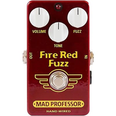 Mad Professor Hand Wired Fire Red Fuzz Effect Pedal