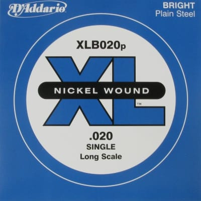 D'Addario XLB020p Bass Plain Single
