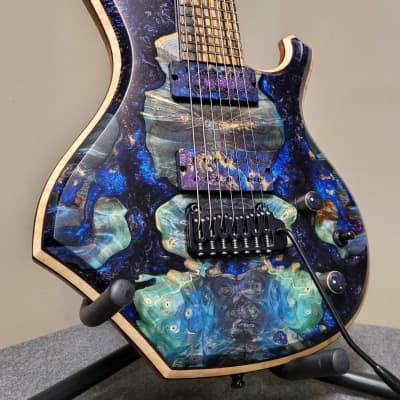 Barlow Guitars  Osprey Hybrid  2021 Hybrid Burl / Pale Moon Ebony for sale