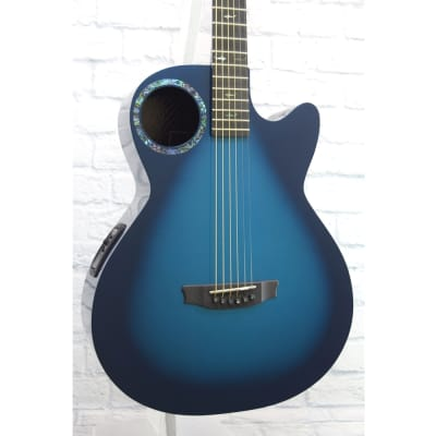 RainSong CO-WS1005NSM Concert Series Graphite with Offset Soundhole Marine Burst Blue